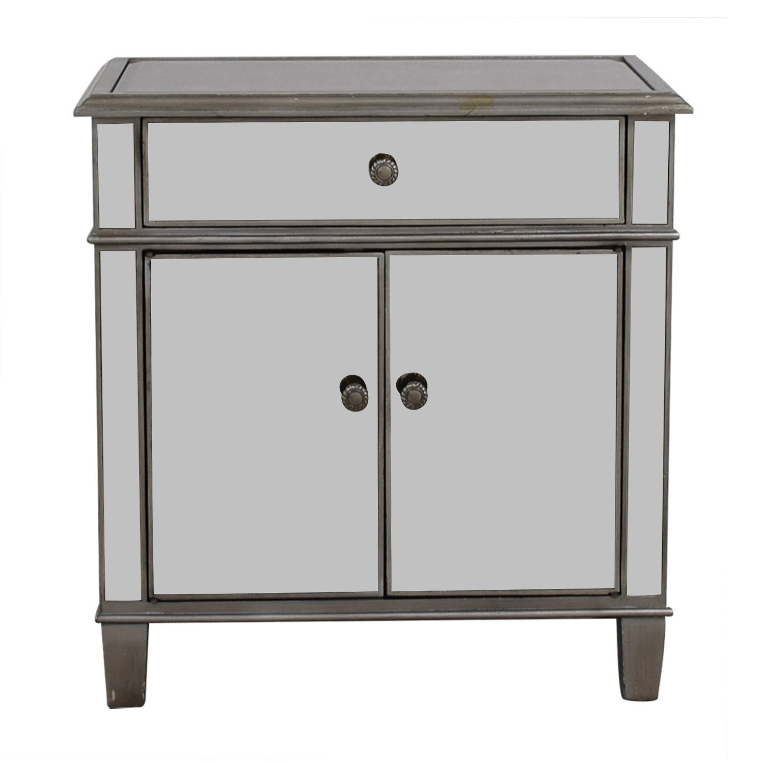 64 Off Pier 1 Pier1 Imports Mirror And Silver Nightstand Tables