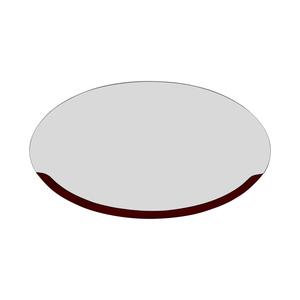 Art Deco Wood Fading Oval Mirror used