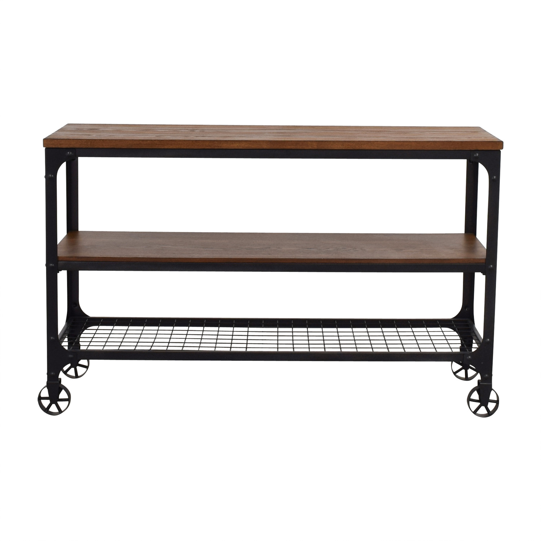 Rustic Metal Media Table sale