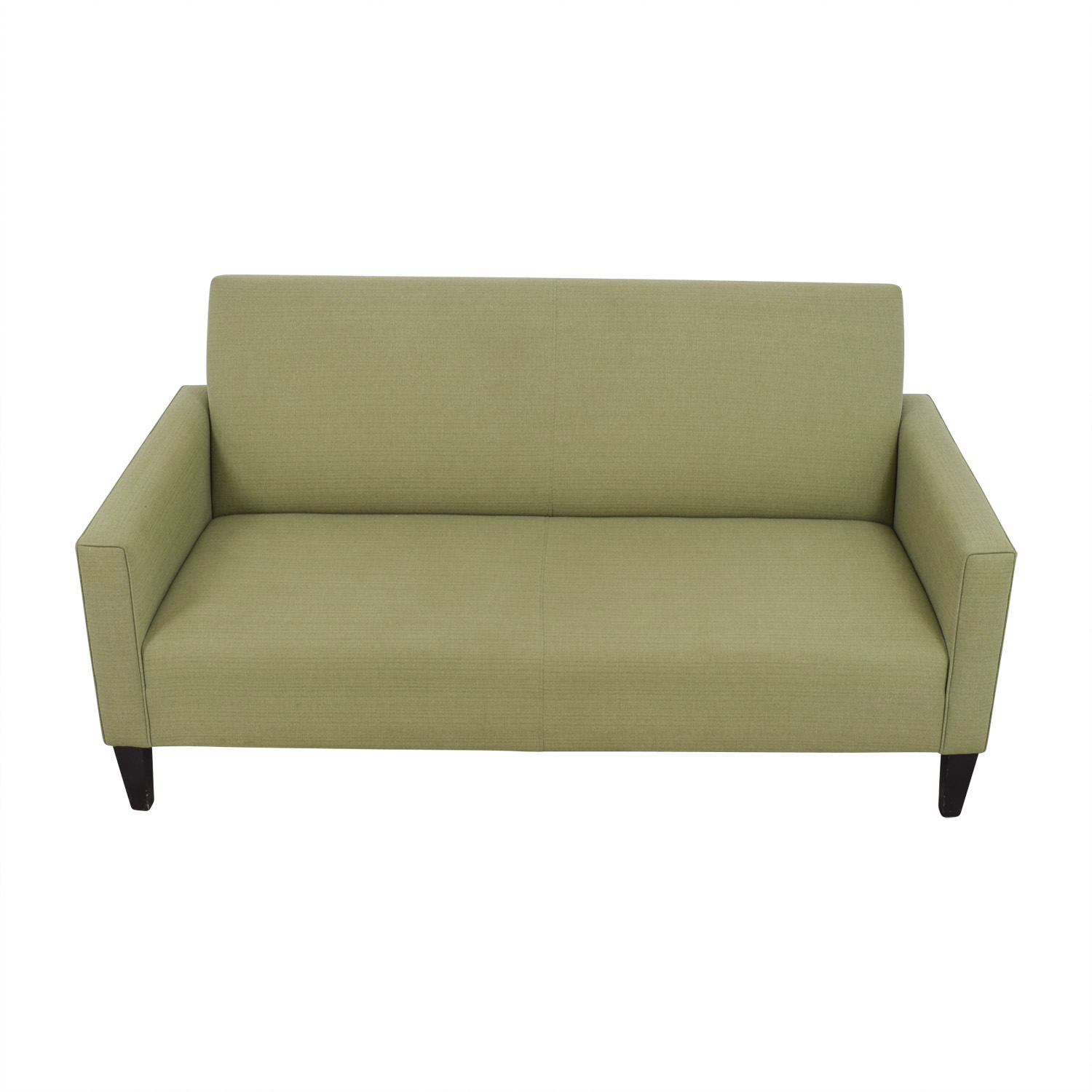 Crate & Barrel Crate & Barrel Moss Green Single Cushion Couch discount