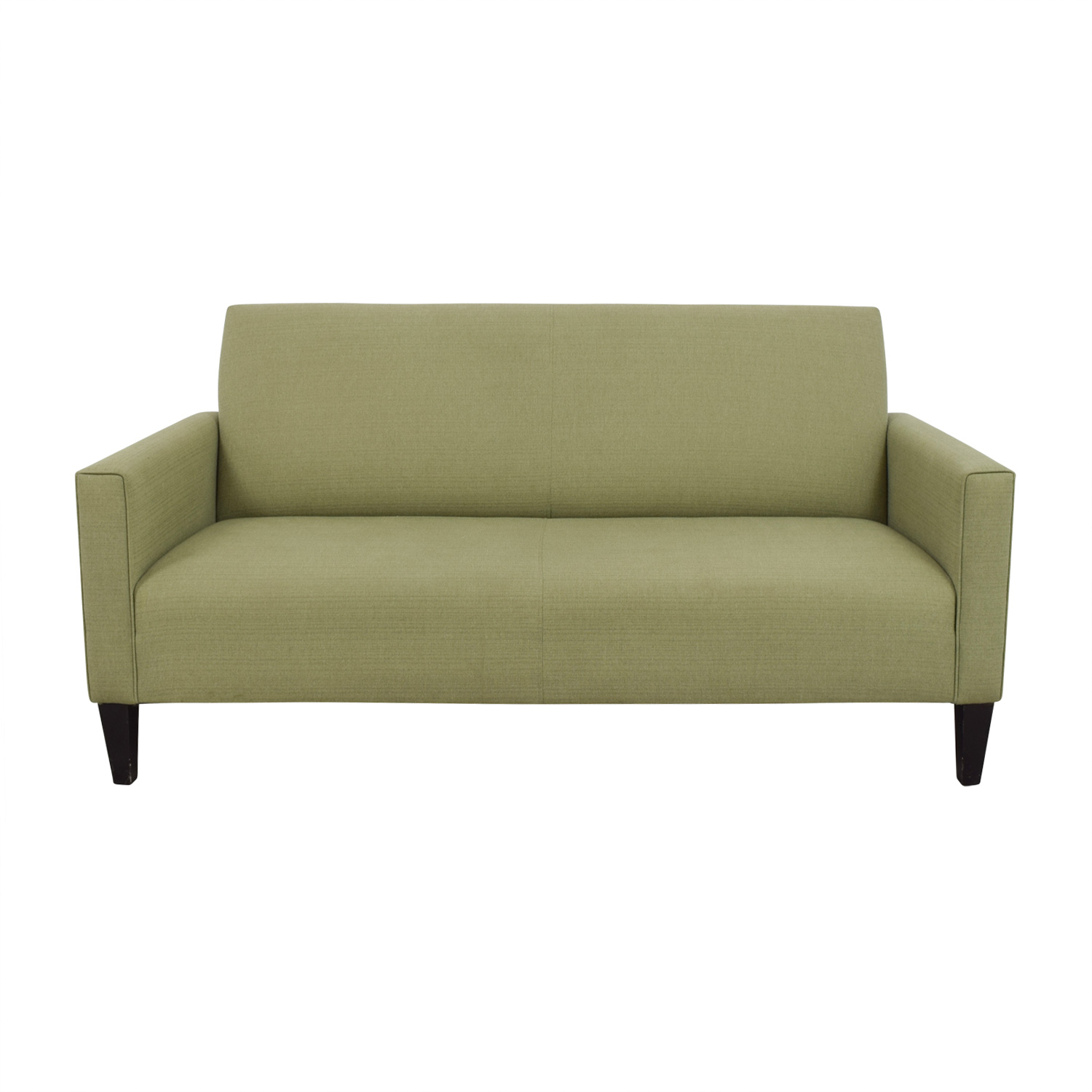 Crate & Barrel Crate & Barrel Moss Green Single Cushion Couch nyc
