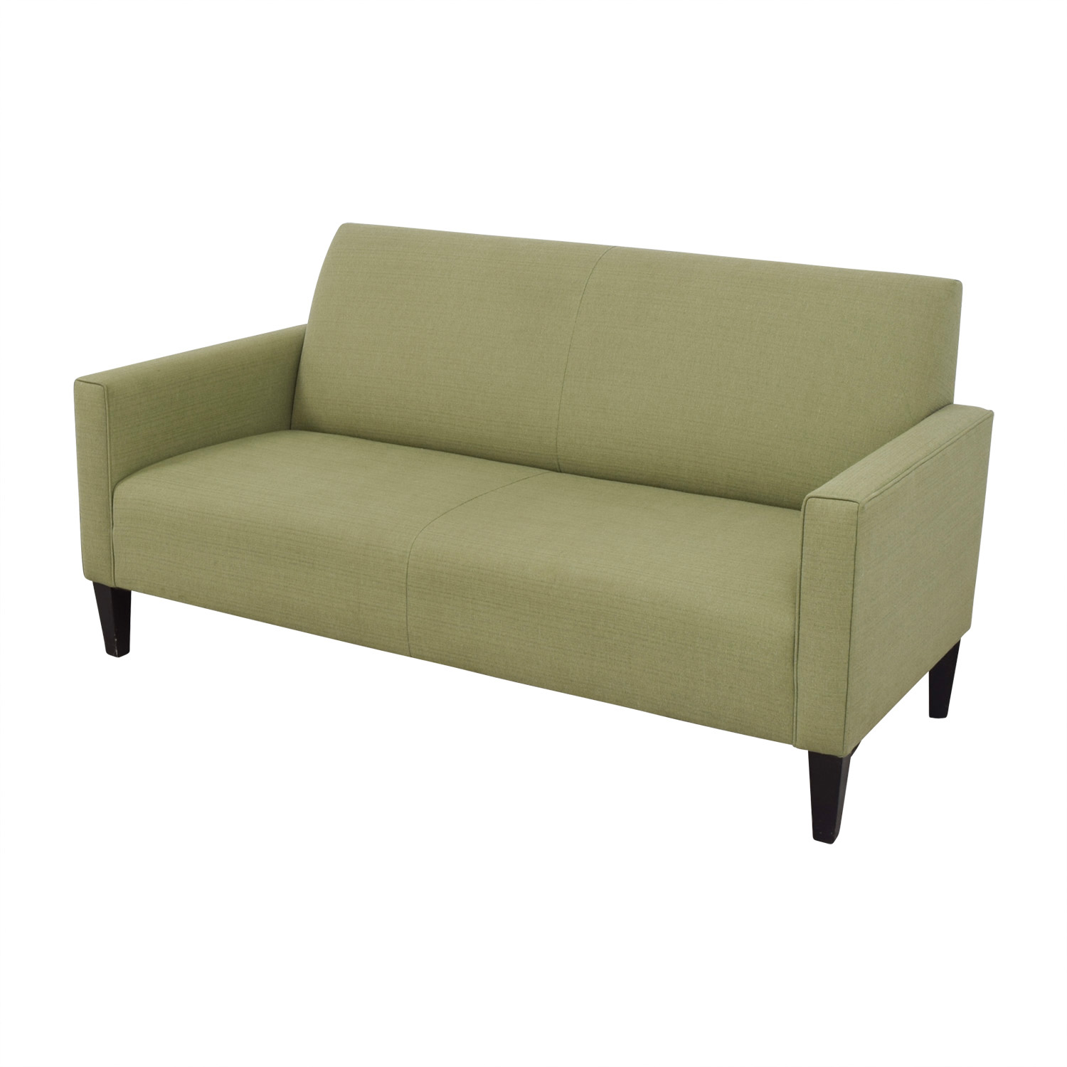80 off crate barrel crate barrel moss green single cushion couch sofas. Black Bedroom Furniture Sets. Home Design Ideas