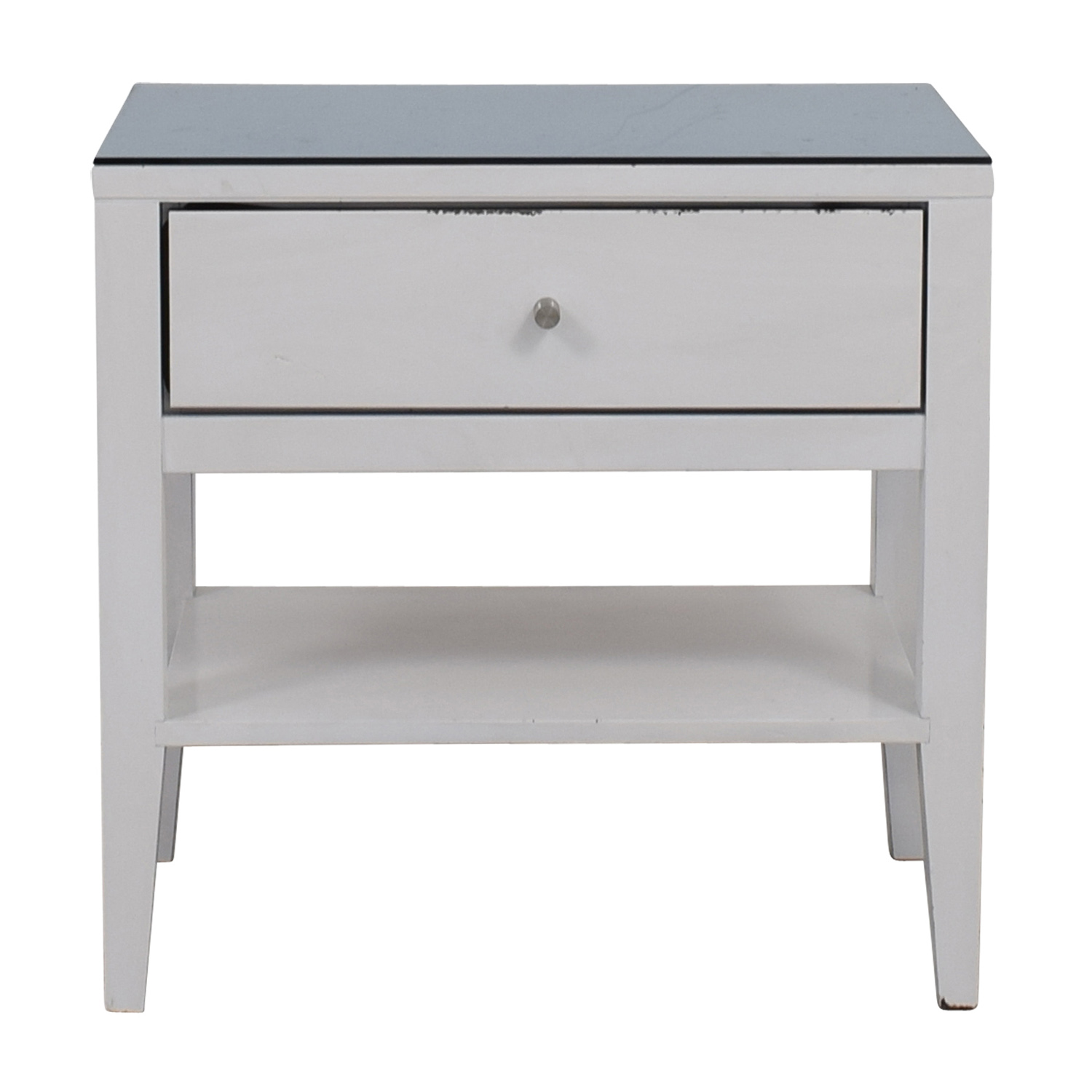 buy Room & Board Calvin Blue Top White Nightstand Room & Board
