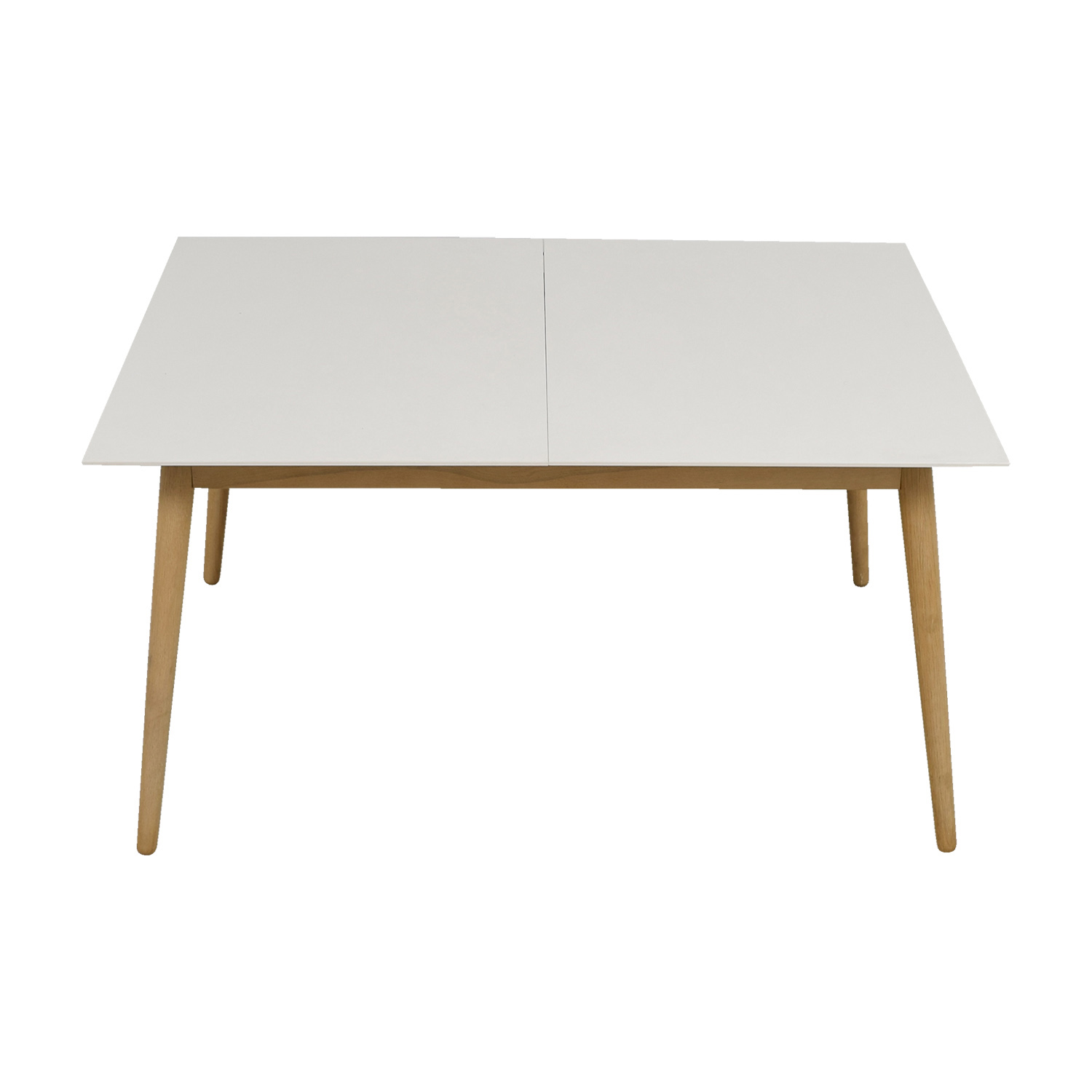 BoConcept BoConcept White and Natural Wood Extendable Table on sale