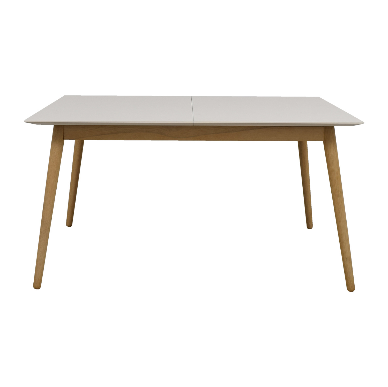 BoConcept White and Natural Wood Extendable Table BoConcept
