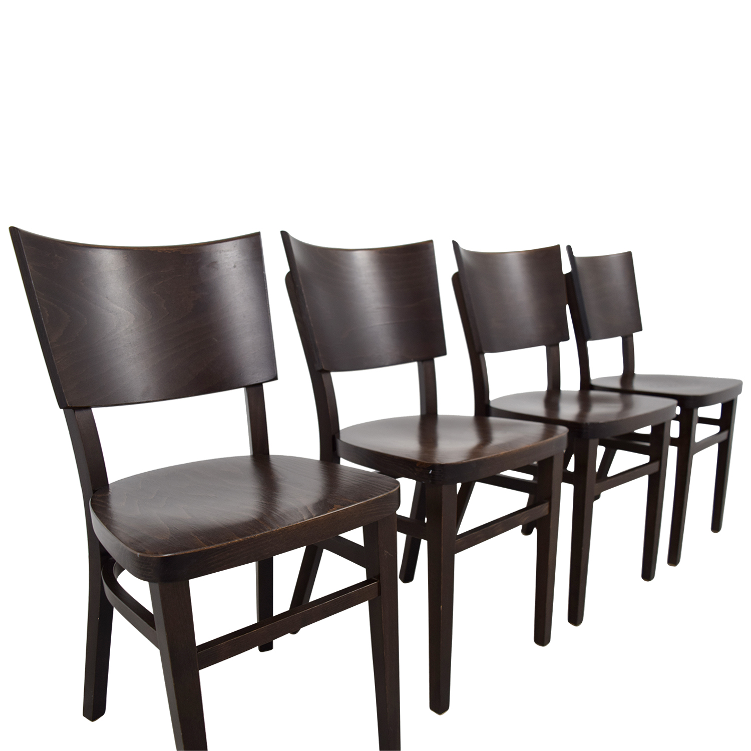 44% OFF - Design Within Reach Design Within Reach Kyoto Brown Chairs ...