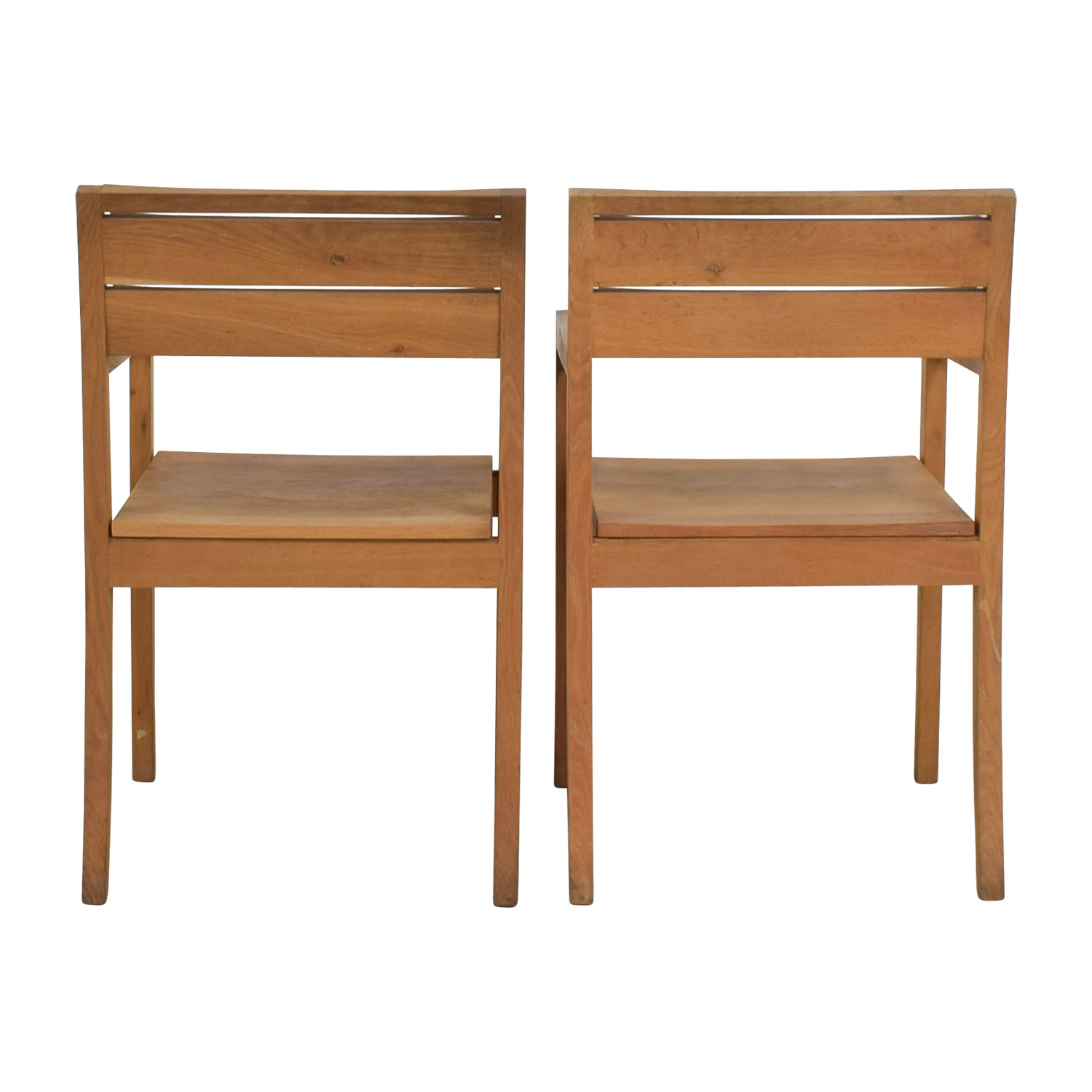 shop ABC Home Solid Oak Chairs ABC Home & Carpet Dining Chairs