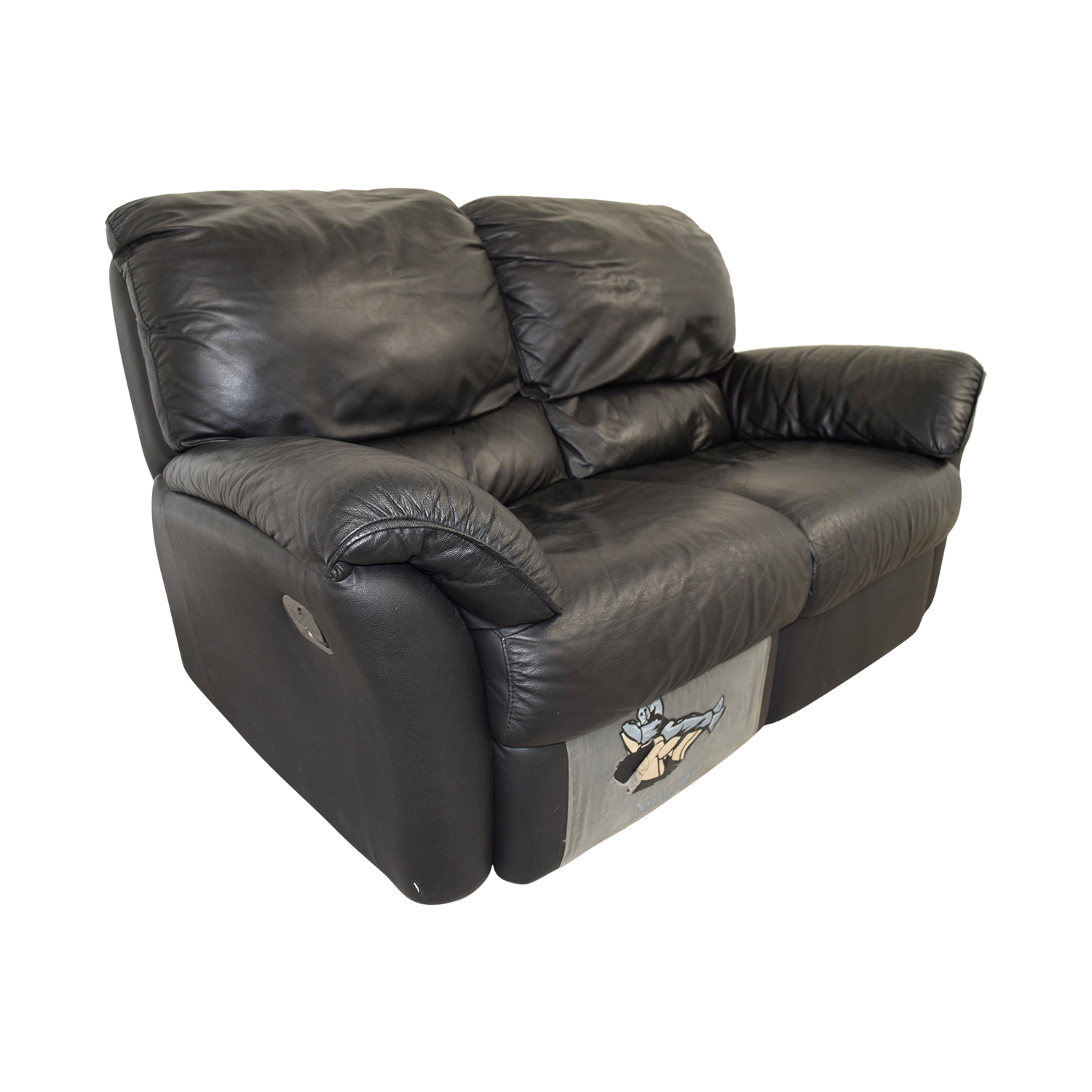 84 Off Natuzzi Natuzzi Leather Recliner Loveseat Sofas