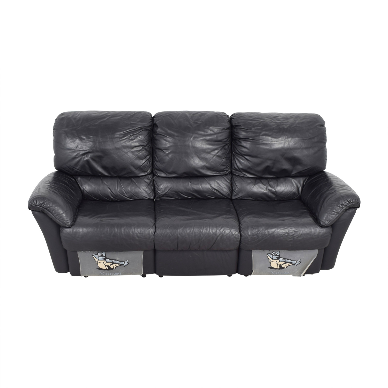 Natuzzi Natuzzi Black Recliner Sofa nyc