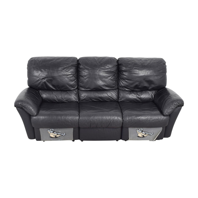 Natuzzi Natuzzi Black Recliner Sofa