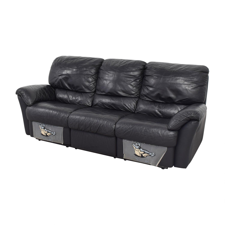 83 Off Natuzzi Natuzzi Black Recliner Sofa Sofas