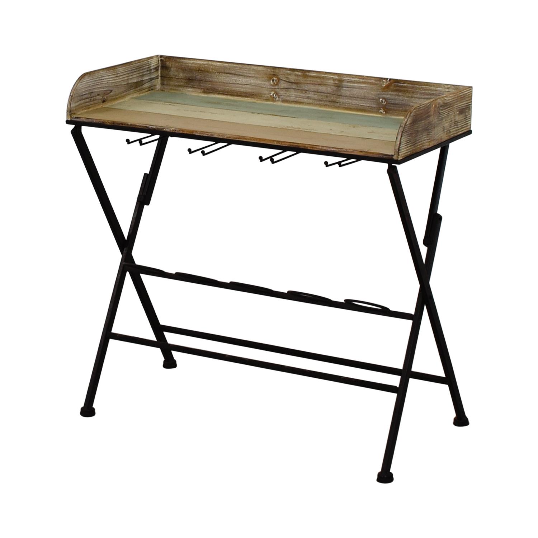 80 Off Dot Amp Bo Dot Amp Bo Folding Bar Cart Tables