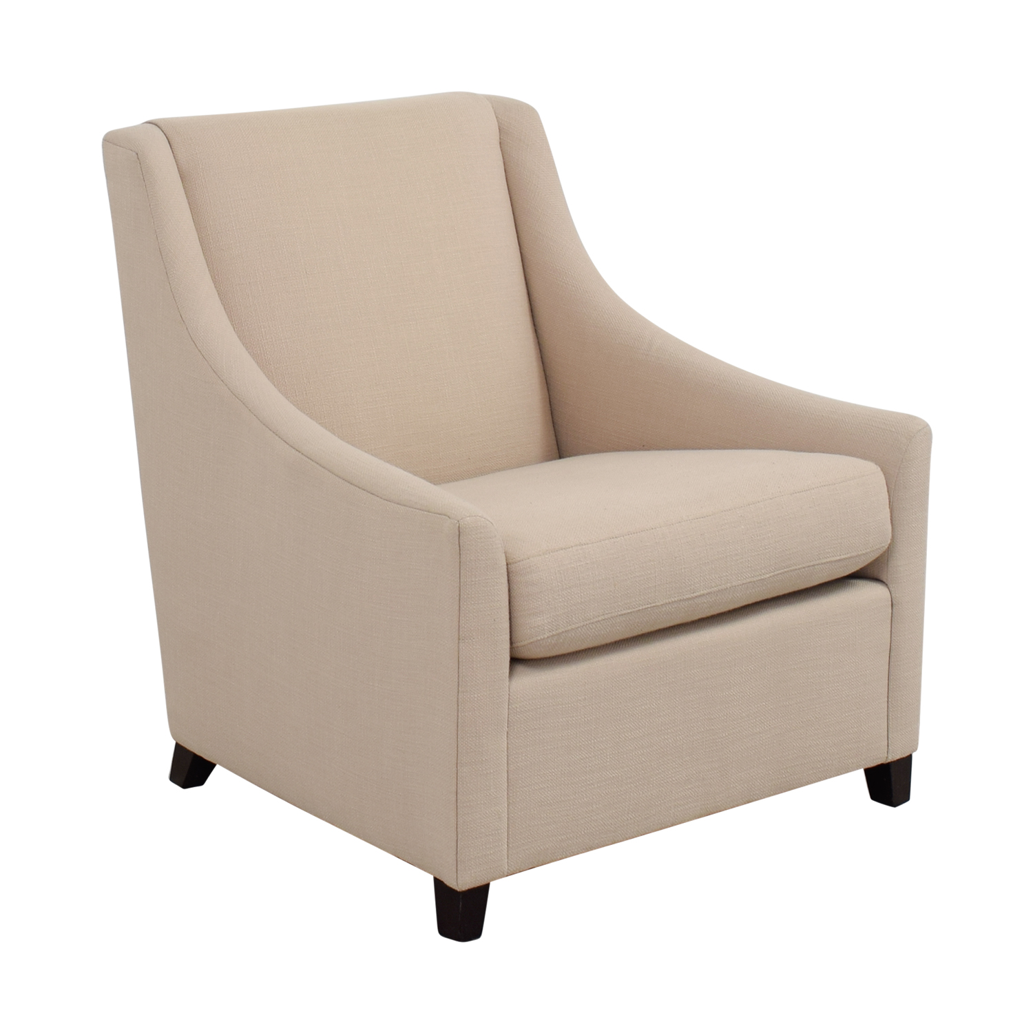 90 Off West Elm West Elm Sweep Beige Arm Chair Chairs