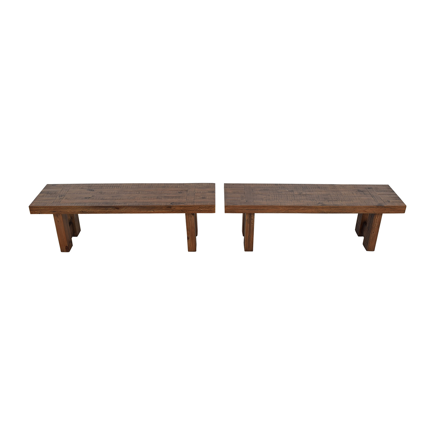 Jordans Furniture Jordans Furniture Acacia Rustic Wood Benches brown