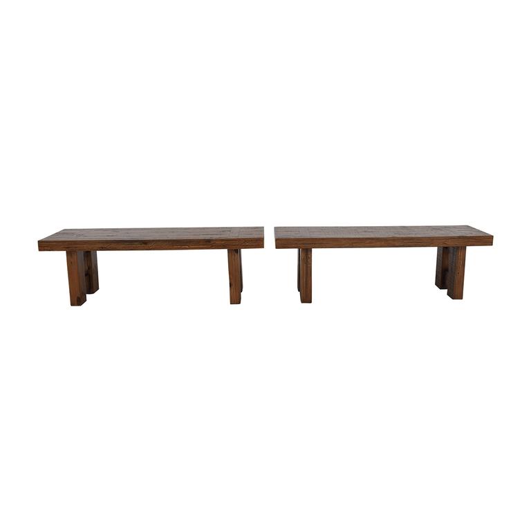 shop Jordan's Furniture Jordan's Furniture Acacia Rustic Wood Benches online