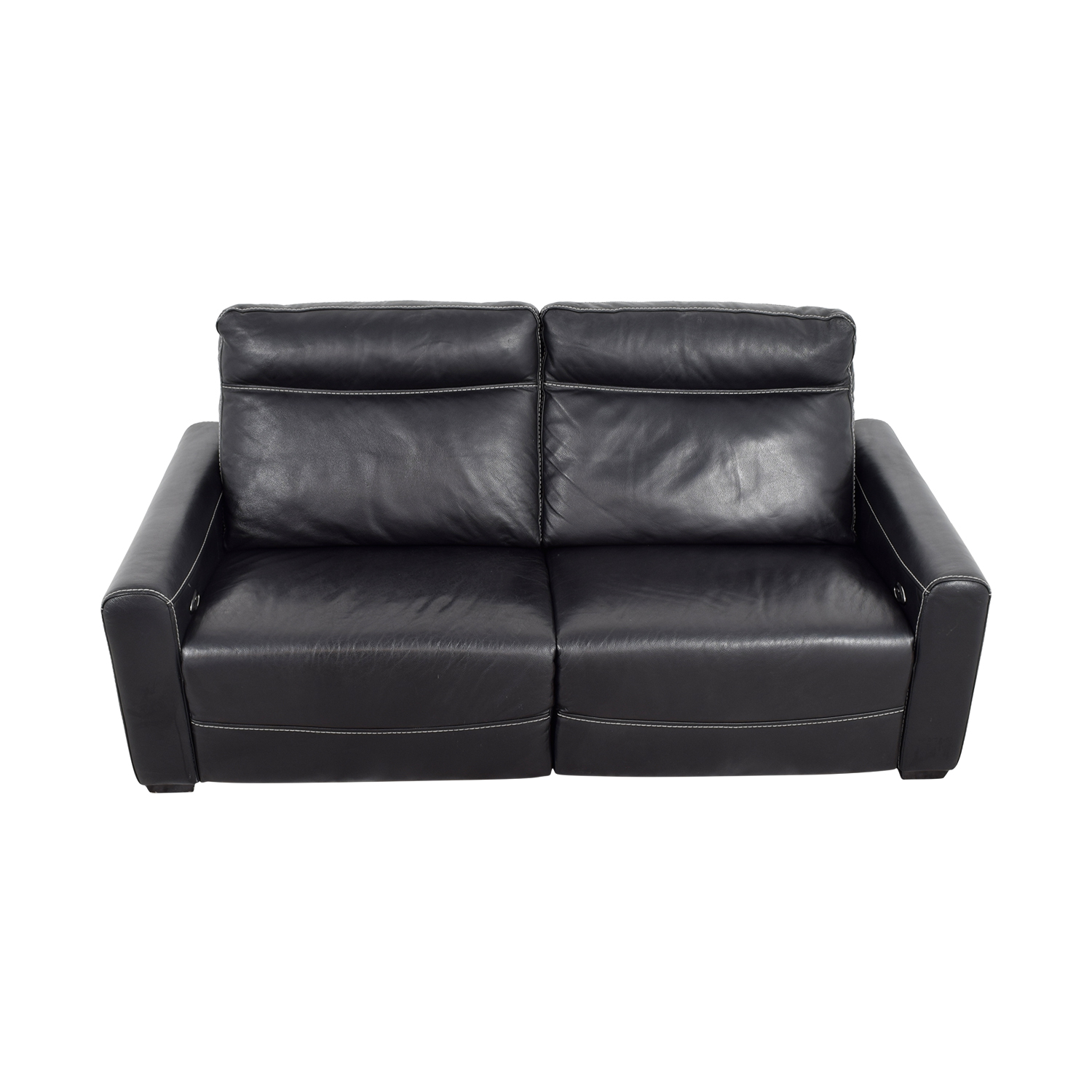 buy Macy's Black Leather Reclining Sofa Macy's