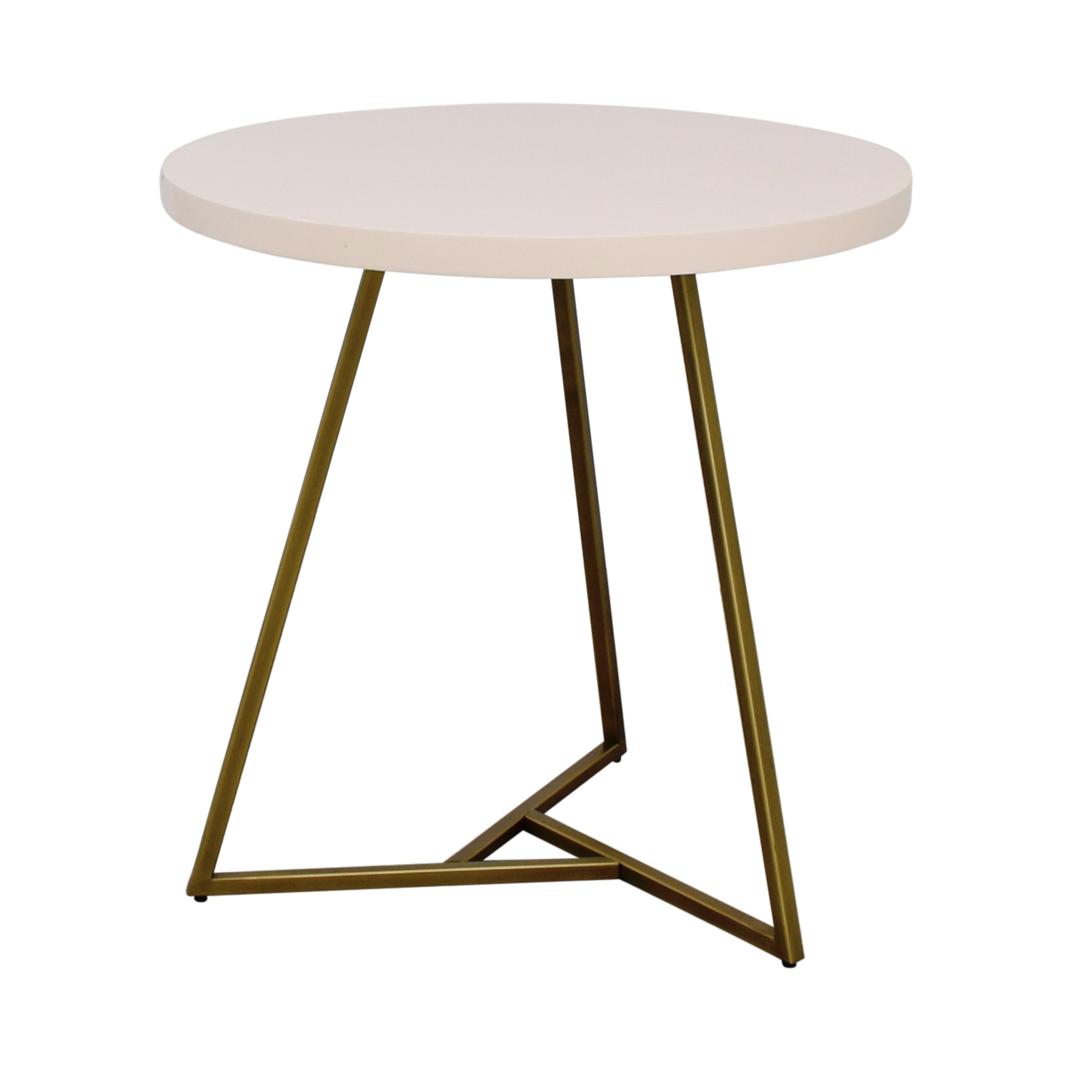 OFF West Elm West Elm White And Brass Cafe Table Tables - West elm cafe table
