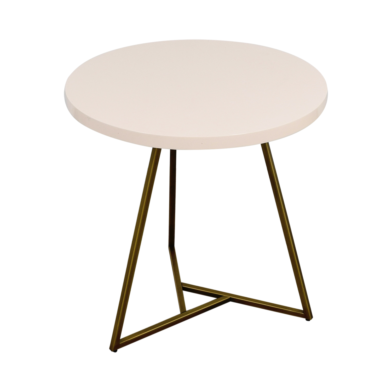 buy West Elm White and Brass Cafe Table West Elm Dining Sets