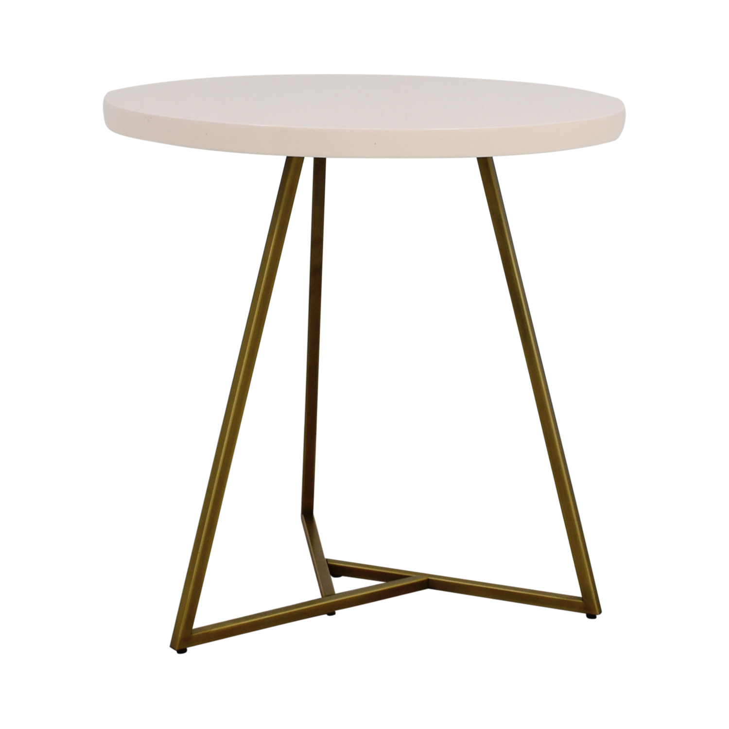 West Elm White and Brass Cafe Table West Elm