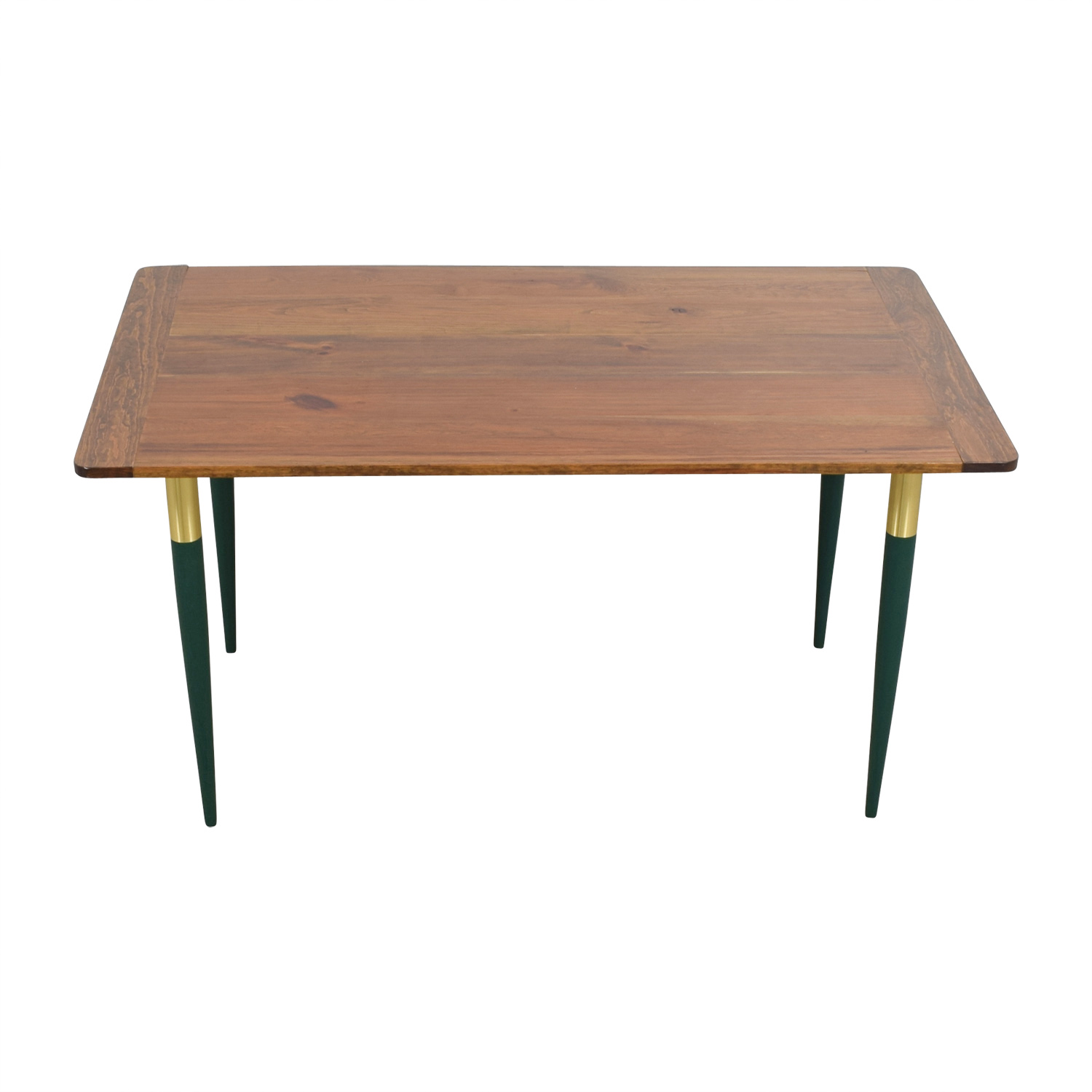 Custom Rustic Wood with Green Leg Table
