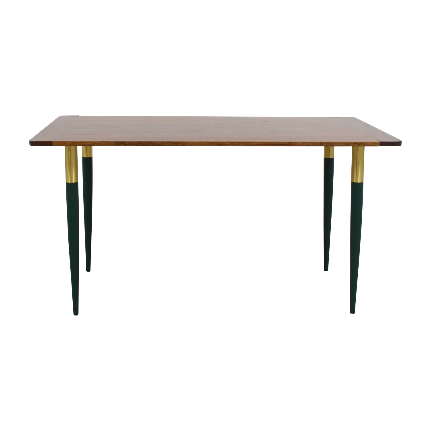 Custom Rustic Wood with Green Leg Table coupon