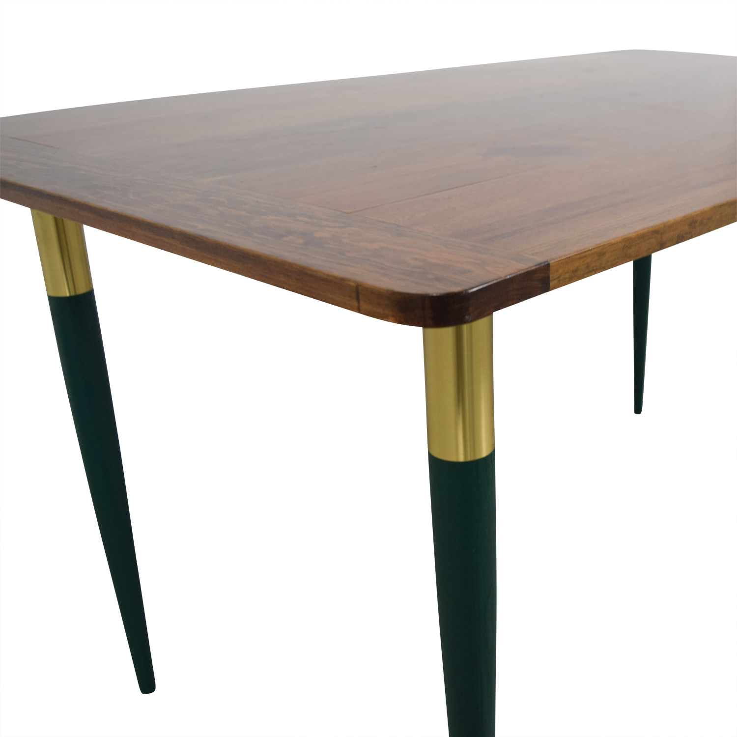 Custom Rustic Wood with Green Leg Table / Tables
