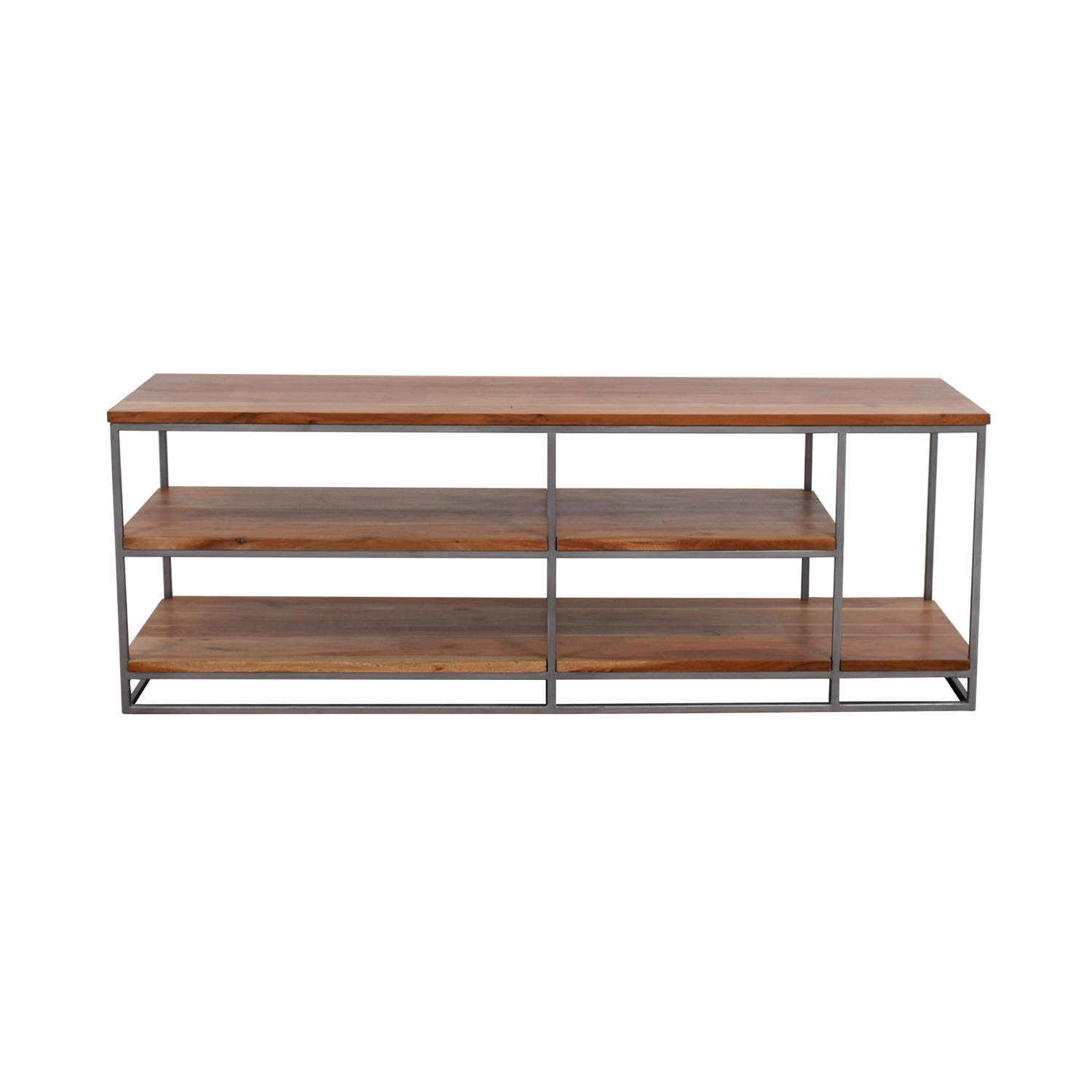 CB2 CB2 Wood and Chrome Credenza dimensions