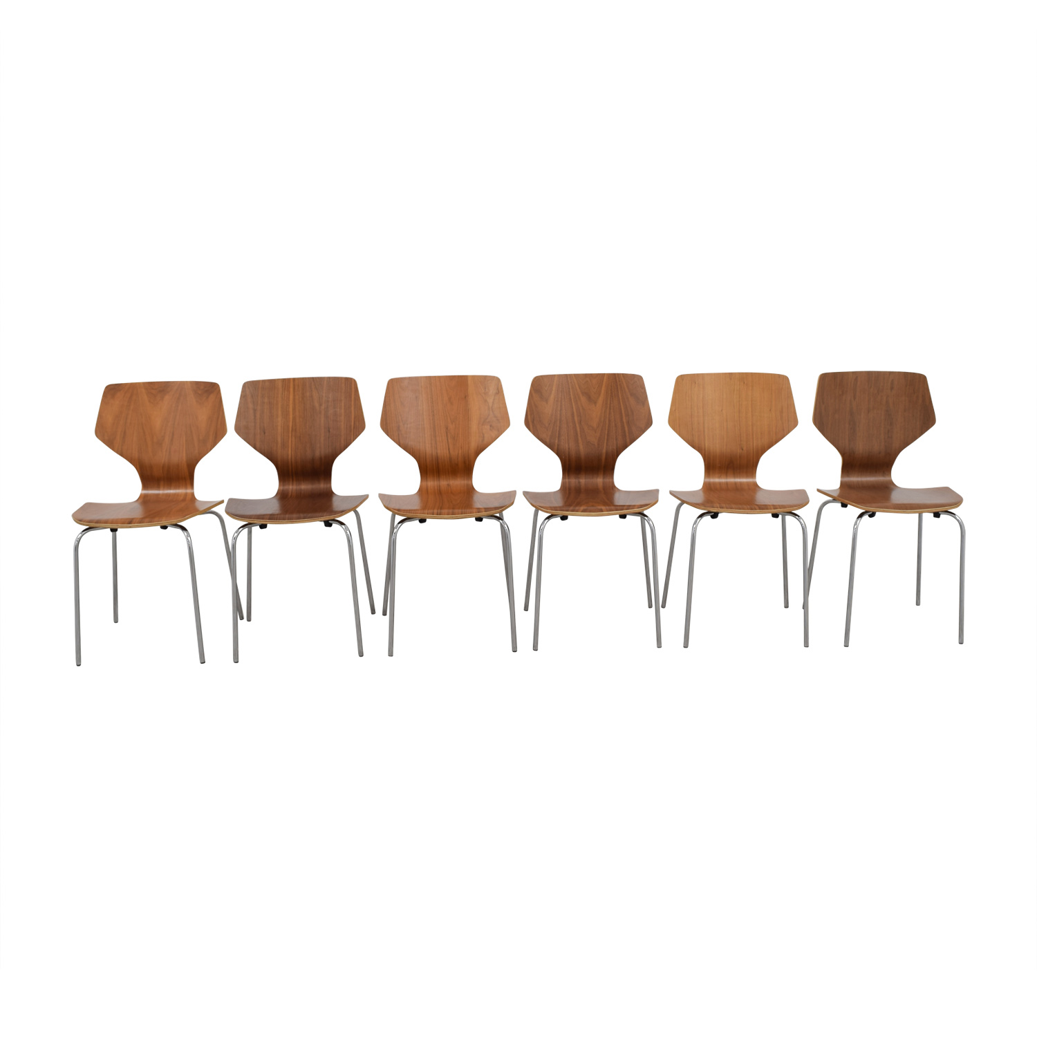 Room and Board Room & Board Pike Side Chairs with Chrome Base dimensions