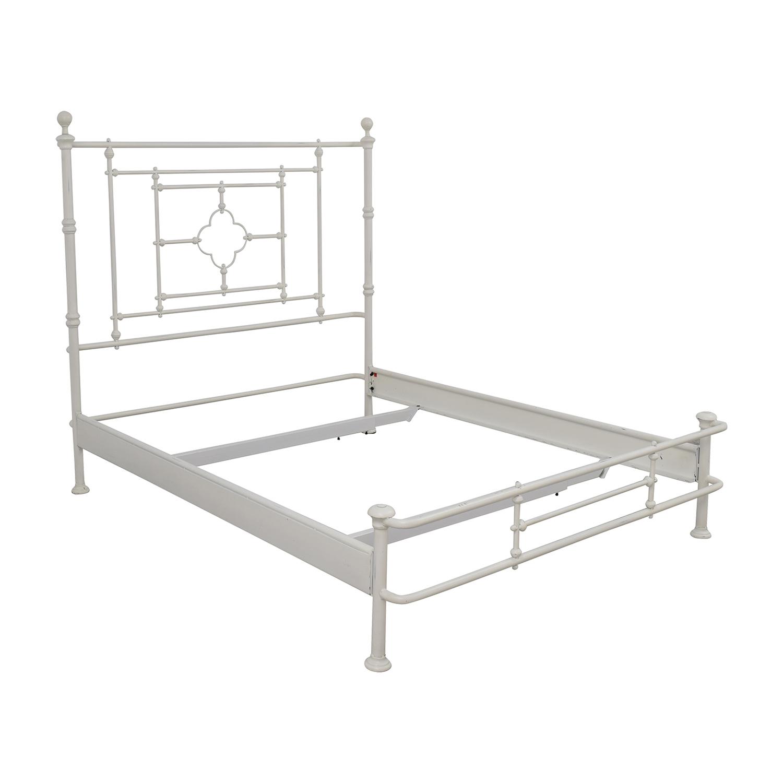 shop restoration hardware restoration hardware white metal queen bed frame online - Metal Queen Bed Frame