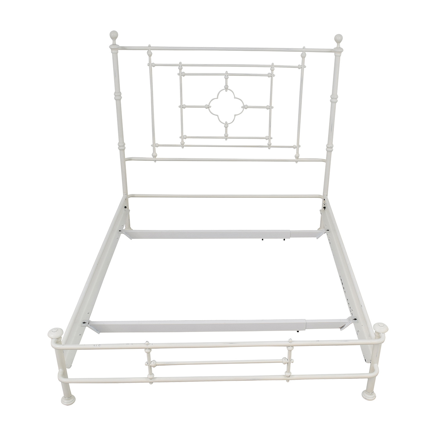 Restoration Hardware Restoration Hardware White Metal Queen Bed Frame for sale
