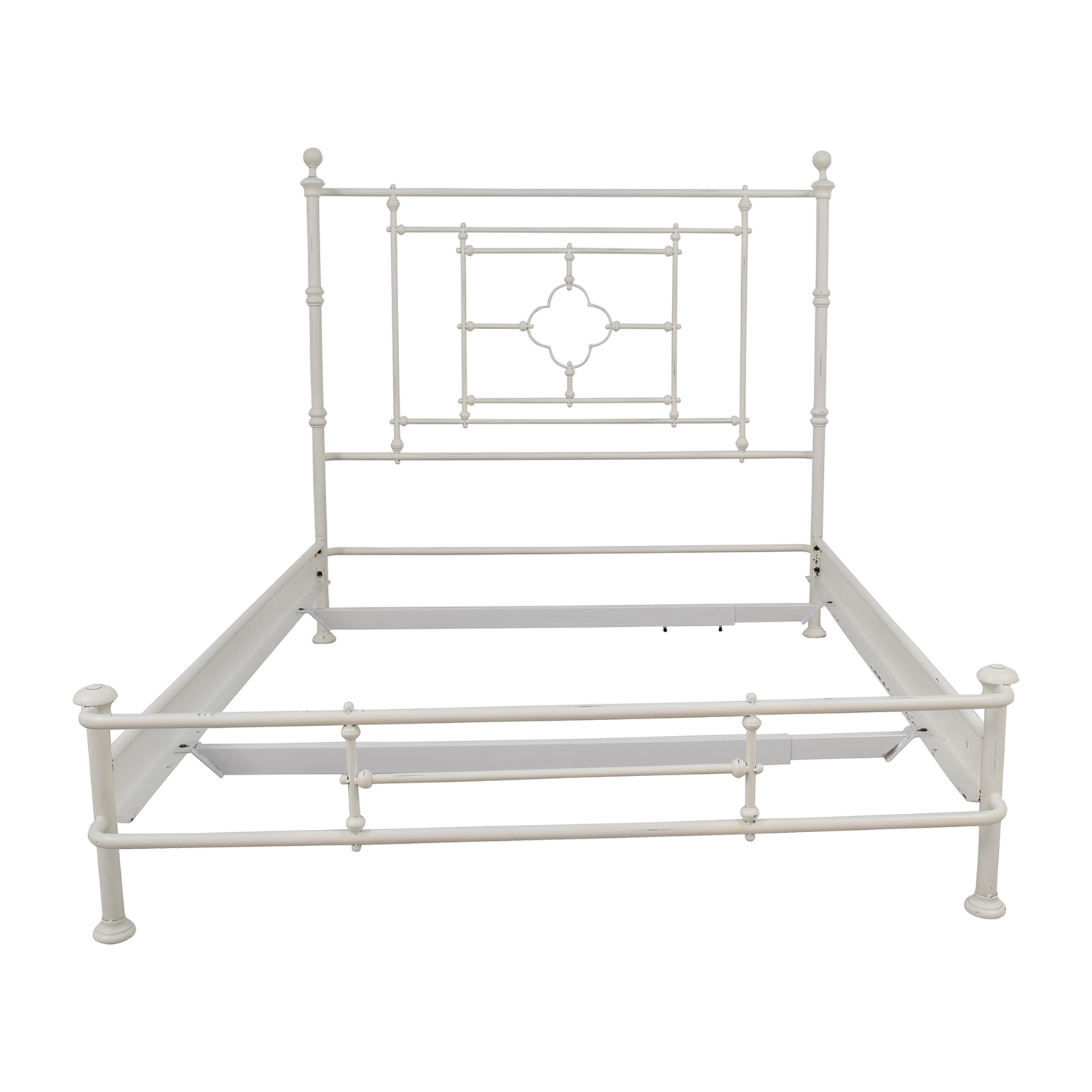 Restoration Hardware Restoration Hardware White Metal Queen Bed Frame on sale
