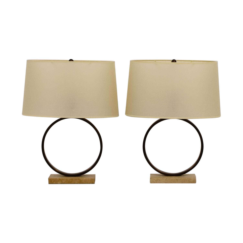 Mitchell Gold + Bob Williams Mitchell Gold + Bob Williams Marco Circle Table Lamps Decor