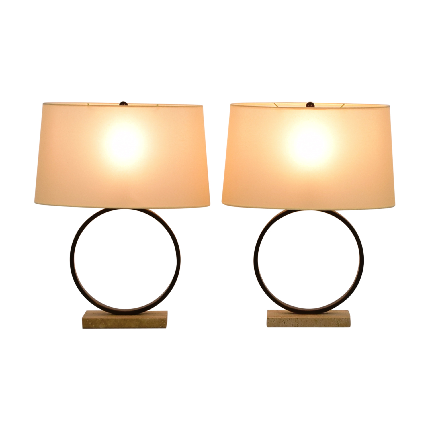 Mitchell Gold + Bob Williams Mitchell Gold + Bob Williams Marco Circle Table Lamps on sale