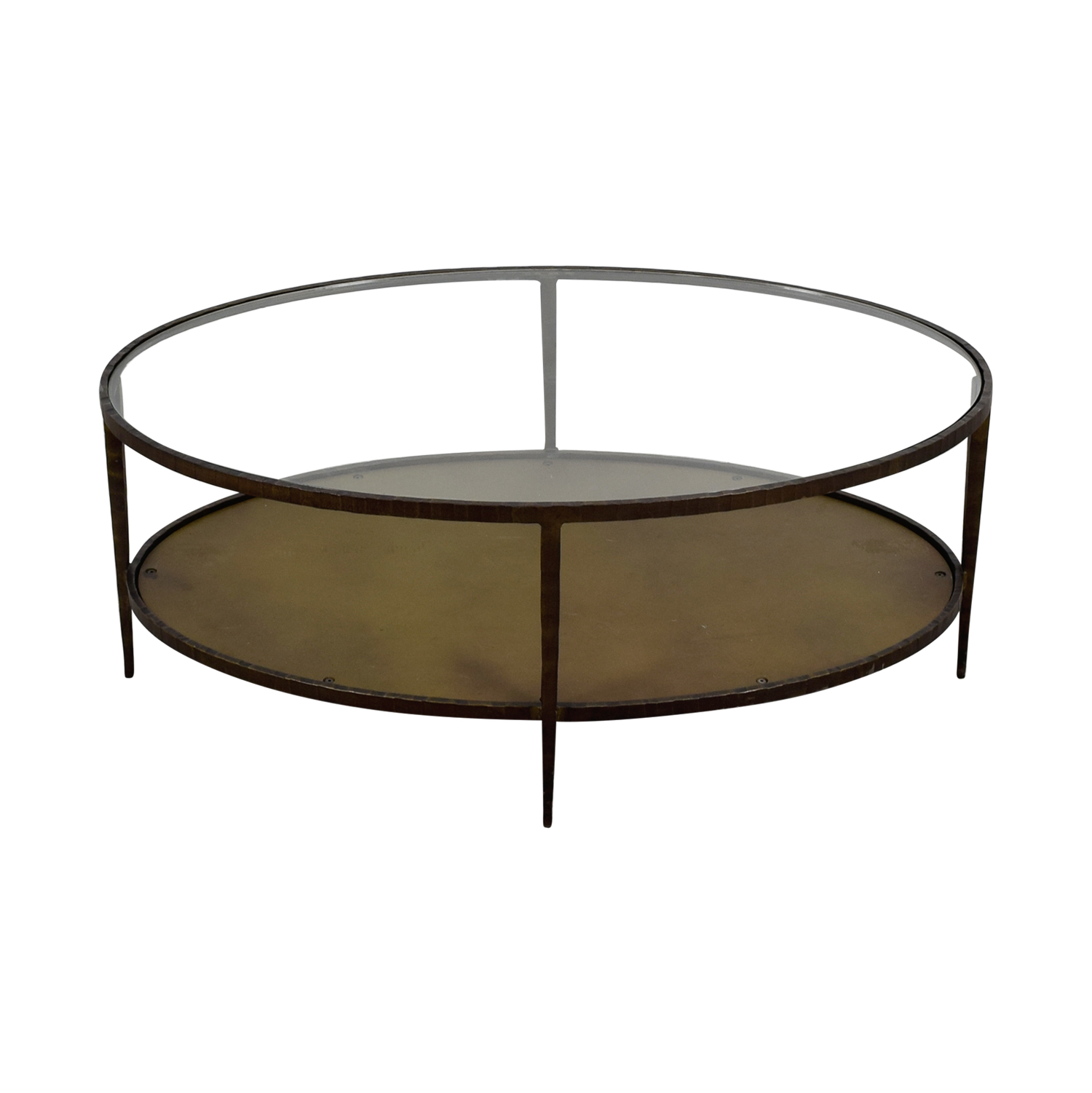 Crate & Barrel Crate & Barrel Clairemont Oval Coffee Table on sale