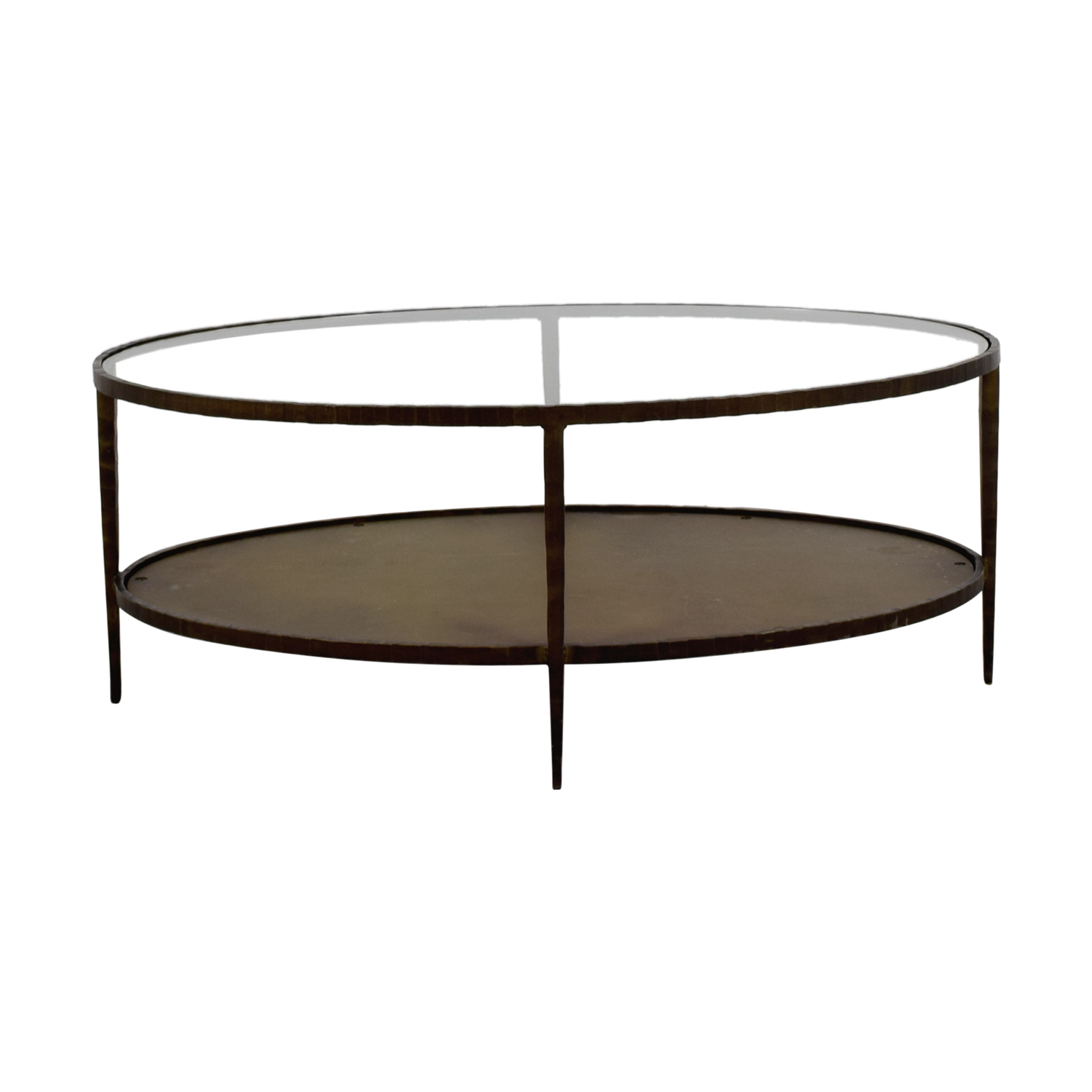 76 Off Crate Barrel Clairemont Oval Coffee Table Tables