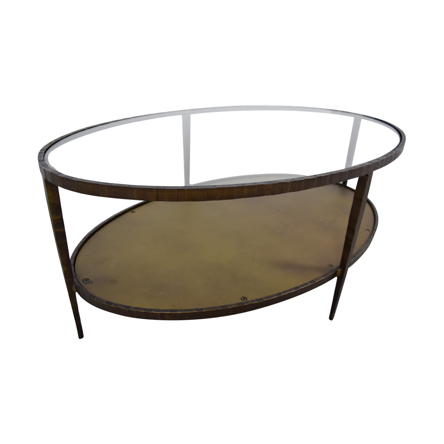 Crate Barrel Clairemont Oval Coffee Table