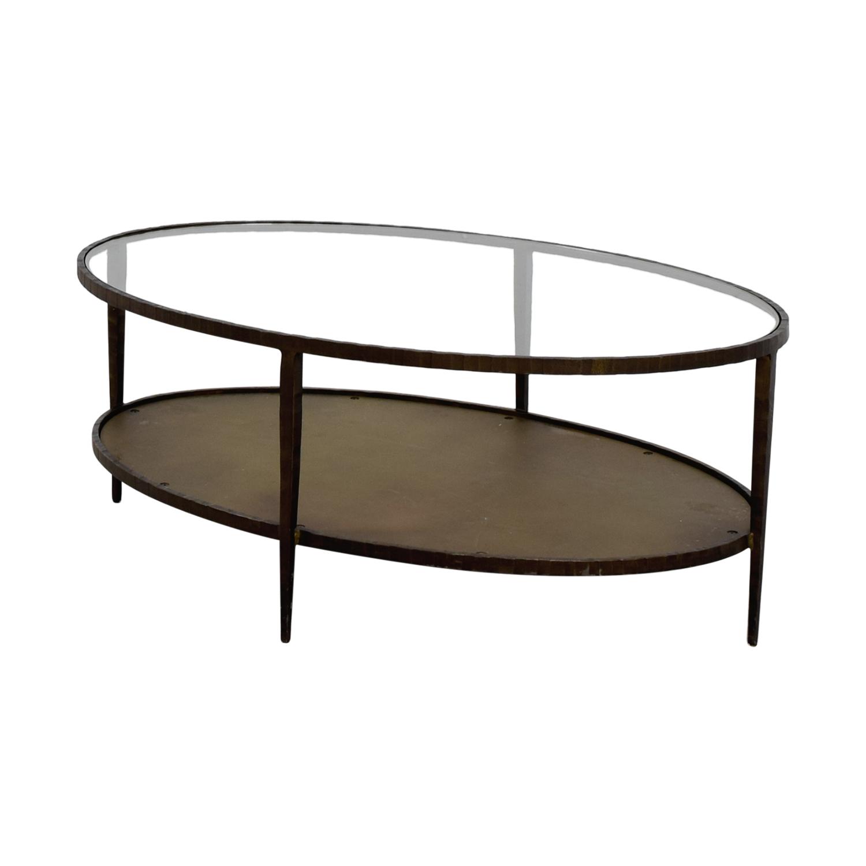 Off Crate And Barrel Crate Barrel Square Coffee Table: Crate & Barrel Crate & Barrel Clairemont Oval