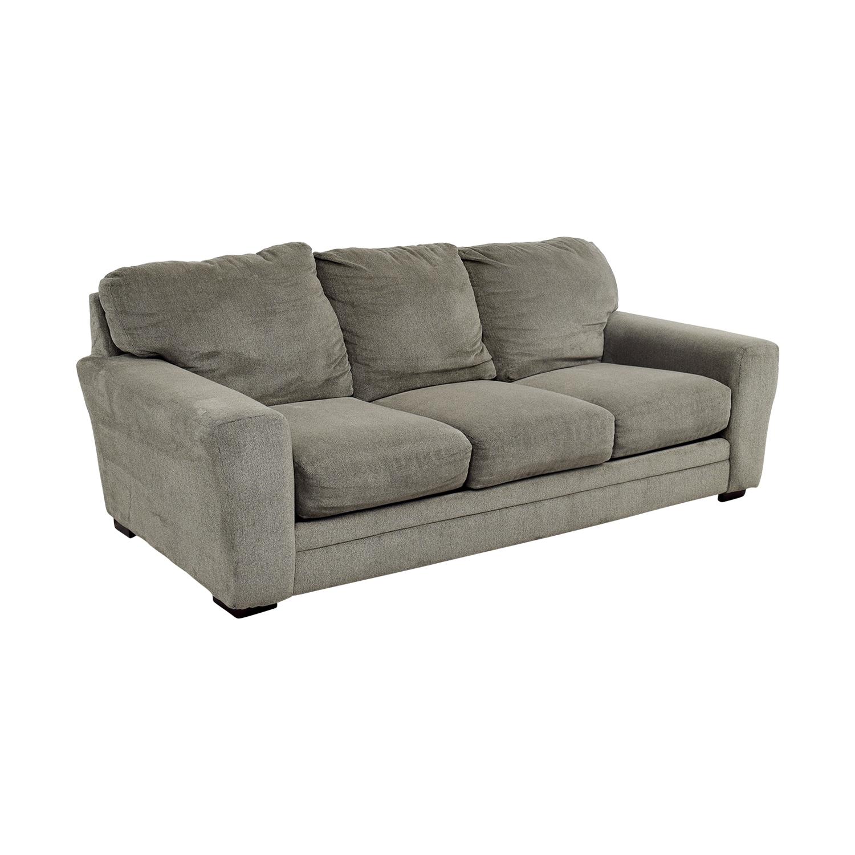 Bobs Furniture Bobs Furniture Grey Jackson Three-Cushion Sofa coupon
