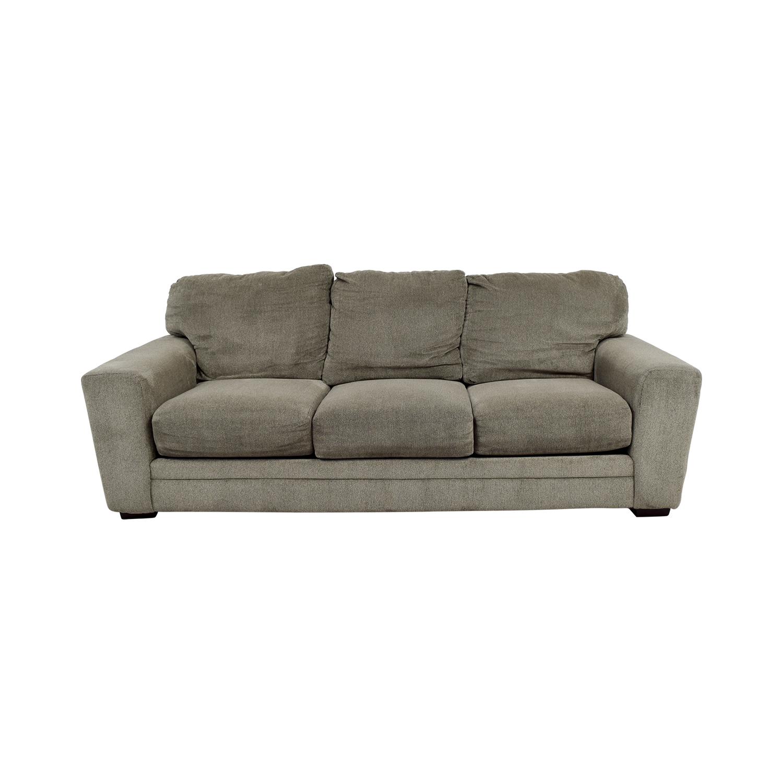 Bobs Furniture Bobs Furniture Grey Jackson Three-Cushion Sofa Sofas