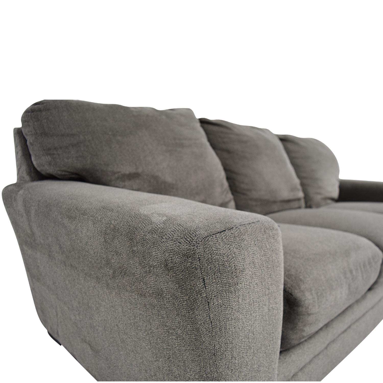 buy Bobs Furniture Grey Jackson Three-Cushion Sofa Bobs Furniture
