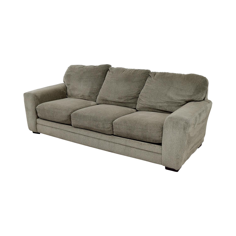 Bobs Furniture Bobs Furniture Grey Jackson Three-Cushion Sofa on sale