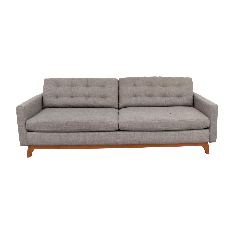 Macys Macys Mid-Century Karlie Grey Tufted Sofa Classic Sofas