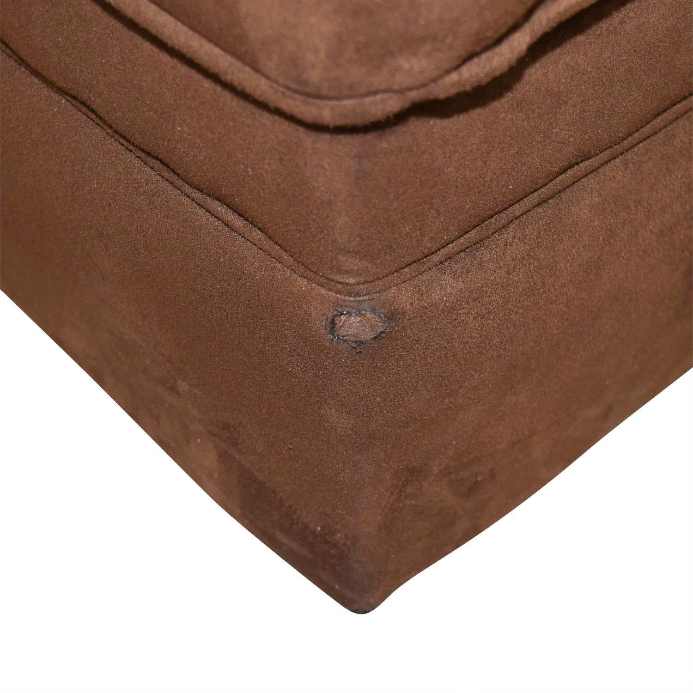 Chocolate Brown Ottoman
