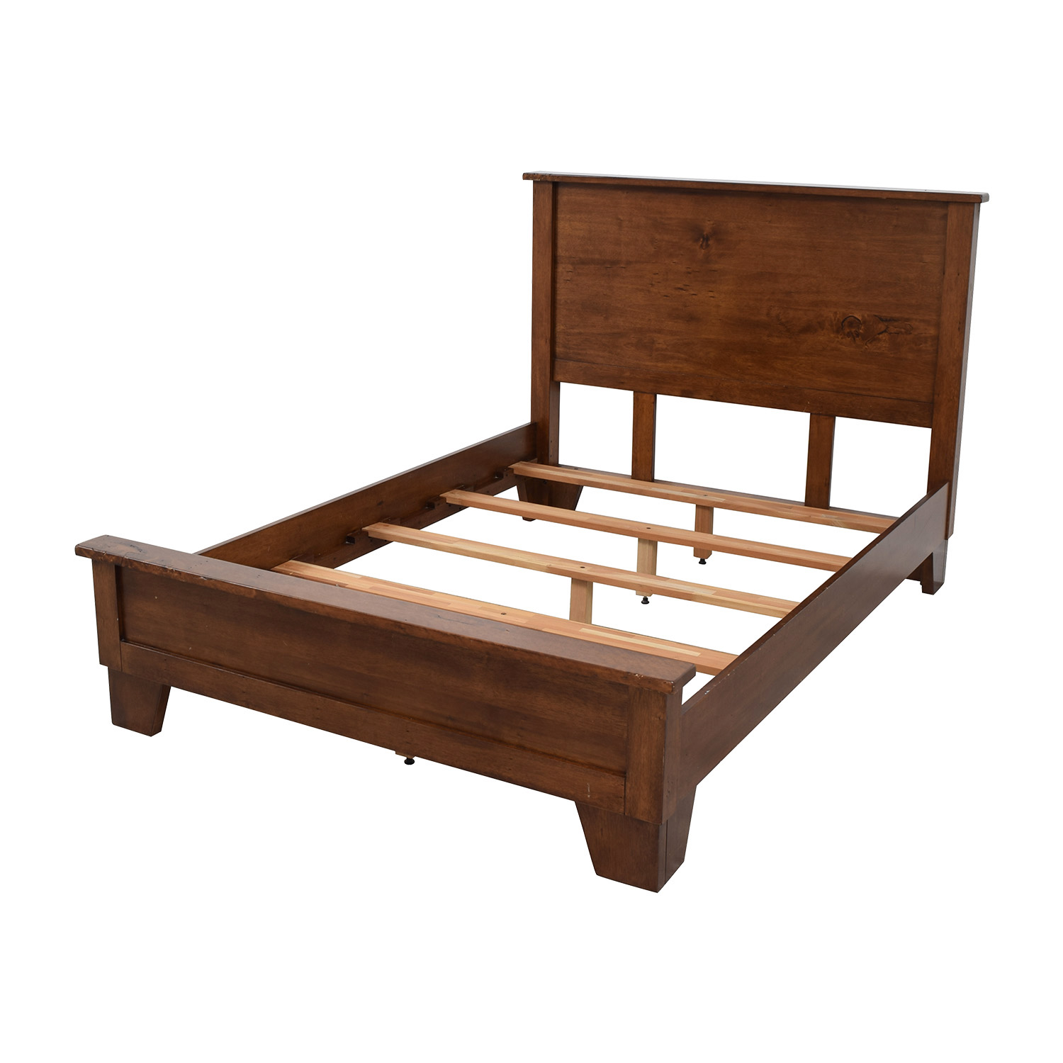 90% OFF - Pottery Barn Pottery Barn Sumatra Wood Full Bed Frame / Beds