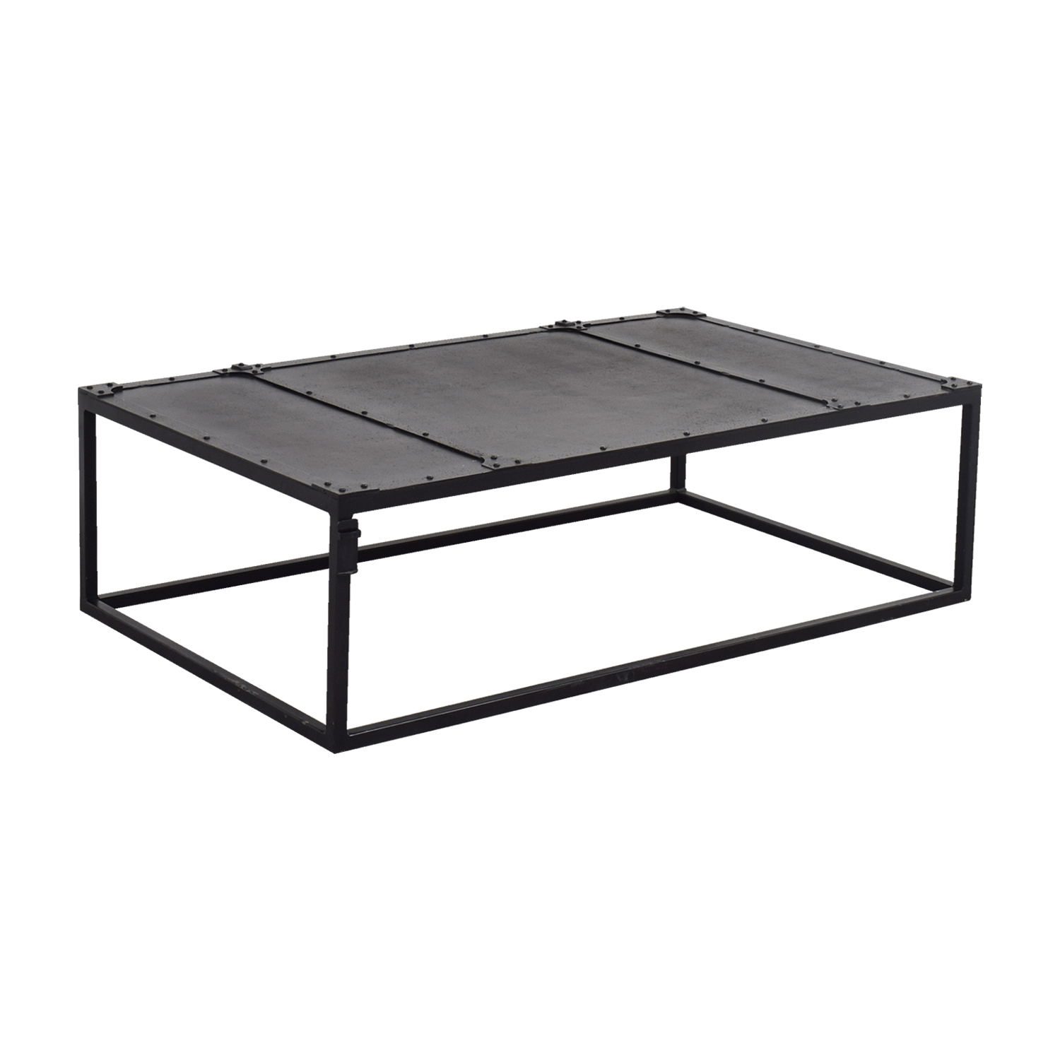 57 Off Restoration Hardware Restoration Hardware Tesoro Black Coffee Table Tables