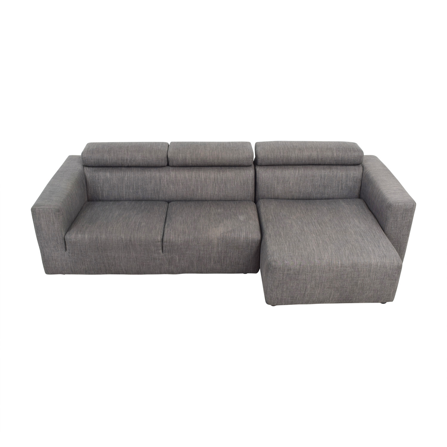 shop Jensen Lewis Grey Sectional Jensen Lewis Sectionals