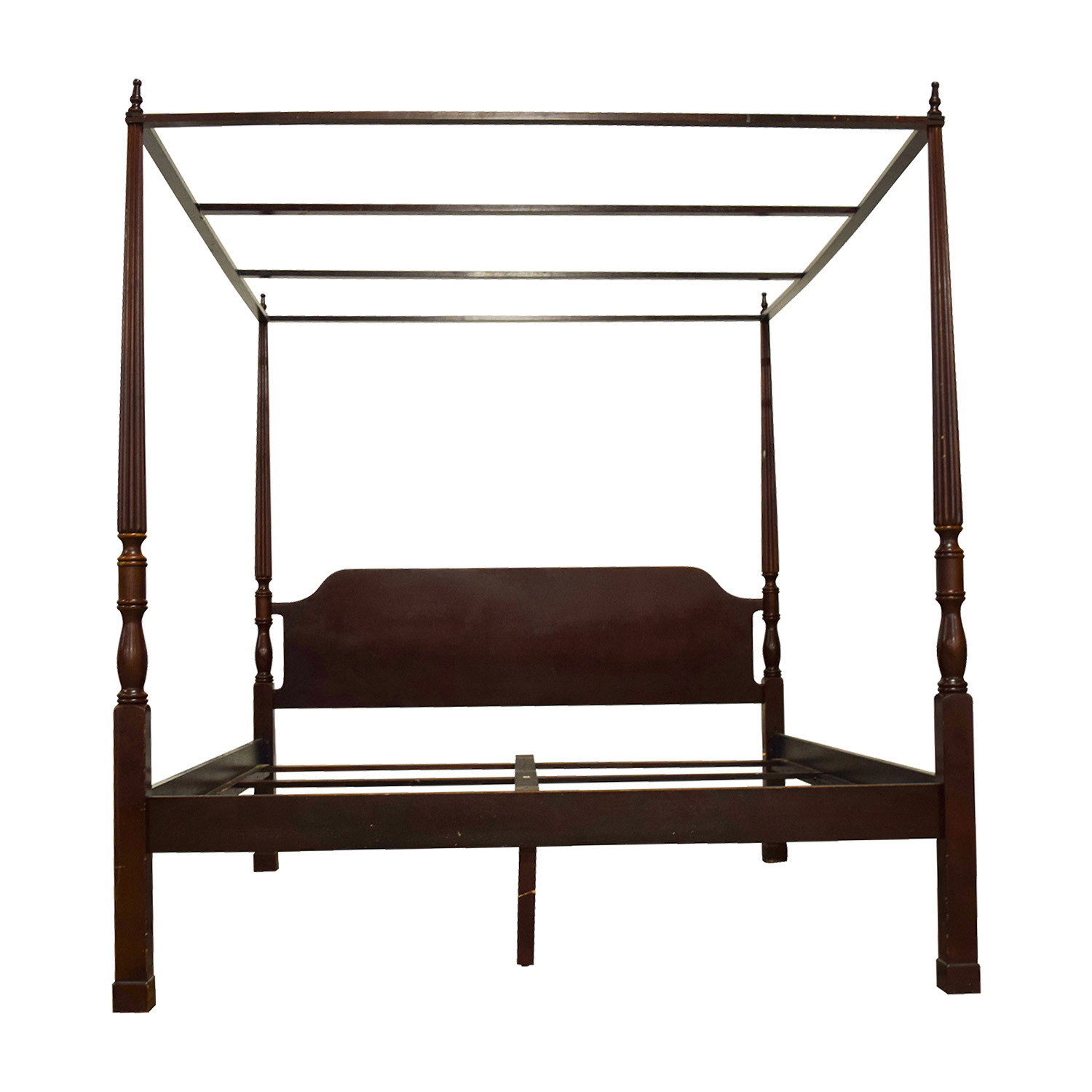 buy Bombay Canopy King Cherry Wood Bed Frame Bombay