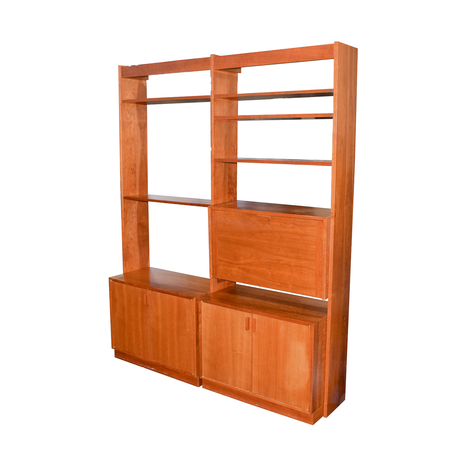 cherry ken elegant leech cabinetry custom bookcase bookcases wood by