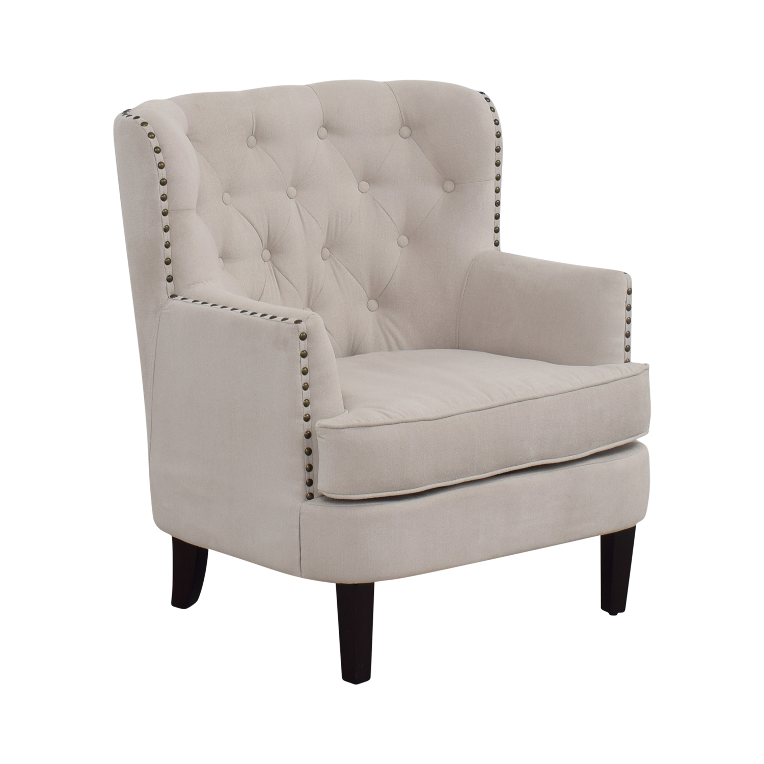West Elm Chairs: West Elm West Elm Chrisanna Beige Tufted
