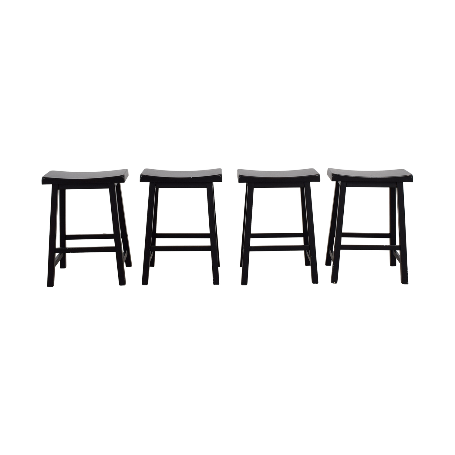 Peachy 90 Off Rectangular Wood Bar Stools Chairs Ncnpc Chair Design For Home Ncnpcorg